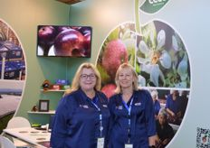 Jaimee Burns and Sharon Kirk from JR Orchard's. The company now has two brands for the apple exports, ECCO and Capital. The New Zealand company were at Fruit Logistca for the second year and say it is a great place to widen sales their sales base.