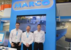 Andrew Connor, Jon Heard and Les Burstow were part of the team at the Marco stand with their intelligent packhouse solutions which reduce waste and overpack.