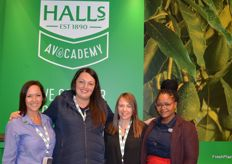 All of the ladies on the Halls Stand: Leigh Green, Jacklyn Smith, Carrie Ward and Maite Letsoalo.