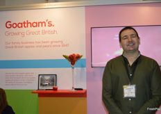 AC Goatham were part of the UK stand this year, they have a new apple variety Flander's Pink which will be in the stores this season. Richard McGrath was at the stand.