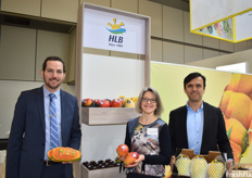 Lorenz Hartmann de Barros, Sybille Friedrich, and Andrés Ocampo of HLB. While the company is known for bringing tree-ripened papayas to Europe in the early '90s and helping popularize the fruit in the European markets, they now also work with many other exotics, like pitahaya and mango.