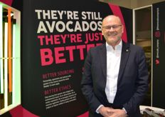 Many of the companies which are under the Fresca Group were on the stand, Ian Craig Chief Executive of Fresca with The Avocado Company's vibrant colours as a back drop.