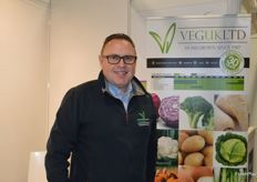 Julian Pitts from VegUK - it was the first year the company has had a stand at the trade show.