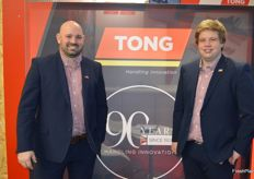 Tong moved into the machine hall for the first time this year on the stand were Charlie Rich and Peter Stocks.