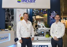 Sinclair were nominated for the FL Innovation award for their EcoLabel on the stand were Ben Nicoll and Duncan Jones.