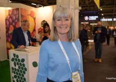 Evonne McDiarmid with New Zealand Plant and Food.
