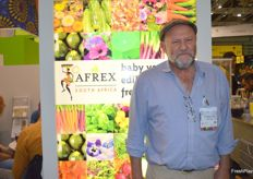 Etienne Taitz at the AFREX stand.