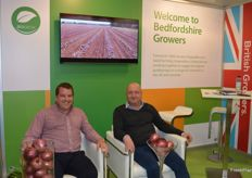 Tim Elcombe and Stephen Hedderly enjoying a well deserved seat at the BedGrow stand.