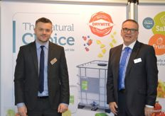 James Blaxland and Martin Clarke has been very bust at the Drywite stand with washes for fresh produce.