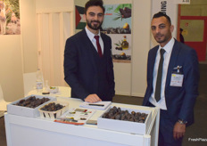 Mohanad Asmar and Mohammad Zubidat from Lamico promoting dates