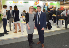 Veronika Mangin and David Ferrer from Agrofresh