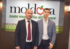 Adrian and his son. Adrian works for the Moldovan export cooperation.