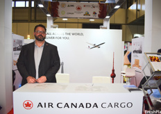 Rob Flood of Air Cargo Canada. The company services the most destination in Europe out of North American Carriers. During the exhibition, they saw much interest from Latin American companies.