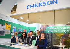Gerd Uitdewilligen, Liza Zagrabchuk, Jan-Willem Schrijver, Matthew Neidlinger, Jan Stommel and Kelci Richardson of Emerson. On the first day of the exhibition, the company released a GO real-time 4G tracker.