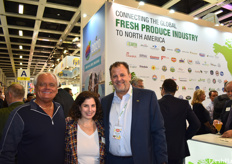 Steve Grinstead, CEO of Fresh Edge, Miriam Wolk of the United Fresh Produce Association, and Danny Duman SVP of Sales and Product Management at Del Monte, at the United Fresh Produce Association's reception on the first day of the show.