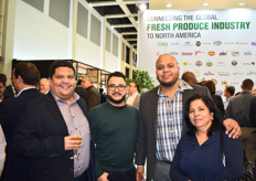 Rodrigo Torres of Valvilla Produce, Ramiro Martinez, Fernando Chavez of Aguacates Chahena, and Arcelia Esqueul, who are some of the sponsors of the United Fresh reception.
