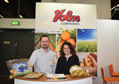 Scott Knapkavage and Marsha Verwiebe of Volm Companies. The company's focus this year is on sustainable packaging.