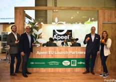 Cody Hegel, John Morais, Mike Trucker and Natalie Shuman of the Apeel team. Their EU partners helped the company launch Apeel avocados first, and now Apeel citrus, into Europe.