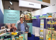 Tom Robyn, the European Sales Manager of Joolies, a California-based date grower and producer. While the consumer packaging is very popular in the US, the company sells mostly to warehouses in Europe though they want to expand the market for retail presentations of dates.