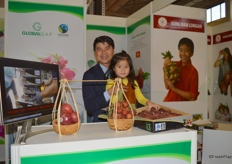 Mr Keith Nguyen of Natural Fruit Trading Service Co., Ltd has received many good visitors during the exhibition.