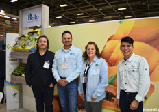 Rodrigo Pinheiro, Ulisses Brambini, Izaura Brambini and Wellington Andrade of Bello Brazilian Exotic Fruit. The company is looking to bring their fruits to European supermarket chains.