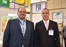 Luis Ferro and Richard Adams of Fermac Cargo, a Brazilian freight forwards. The company works to receive produce from Brazilian producers and forwards the products to destinations around the world.