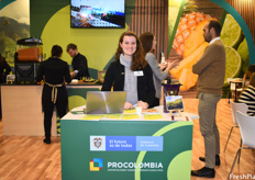 Verónica Samper of ProColombia, the organization who put together the Colombian pavilion. This year, the Colombian pavilion had 10 different companies on it, with the most represented product being the physalis.