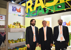 Rafael Piazzarollo, Rodrigo Lima, and Felipe Cunha of the Union of Growers of Brazilian Papaya (UGBP). The Union released a new marketing strategy at Fruit Logistica this year to help teach consumers how to eat papaya, to increase consumption and demand in Europe.