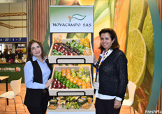 Lina María Zorro Malaver and Sandra Riano of Novacampo. The company has been working with exotic fruits for 20 years, and one of their newer products is the organic physalis, which comes in a sustainable packaging made out of sugarcane.