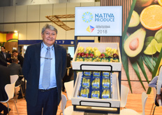 Javier Lopez of Nativa Produce. The company's biggest product is physalis and the main market is Europe. Currently, the company is focusing on packaging with less plastic.