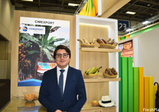 Camilo J. Gomez of Cimexport, a producer and exporter of a variety of products such as plantain, eddoes, yucca and ginger. The company's main market is currently the U.S., but the European market is growing.