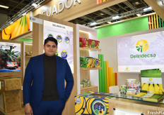Giovanni Triviño Manobanda of Delindecsa. The company grows their bananas in Los Ríos in Ecuador and is working on expanding their access to the European market.