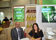 Ernesto Jurado and Karina Ubilla of Agzulasa. The company works with various banana types, including baby, red, traditional and plantains.