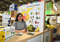 Maria Esther Castro of EarthFructifera. This Ecuadorian company grow traditional and baby bananas in Ecuador and have an office in Peru where they work with avocados and ginger.