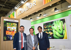 Ricardo Guevara Ramia of Don Vito, Rafael Elizalde Romero of Coragrofrut and José Andrés Guerrero of Green Force Fruits. Green Force Fruits is the company's name and they export bananas in four different brands, which are adapted to their destination markets.