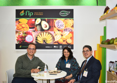 Felipe Páez, Macarena Robledo, and Juan Carlos Sarmiento of FLP. The company recently began adding pulps to their product-line, and have begun working with avocados through their Colombian office.