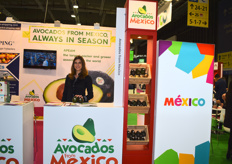 Myriam Benoit representing Avocados From Mexico. While the company has a big presence in the United States, they are trying to expand more into Europe. They see big opportunities in the Russian and Ukrainian markets for conventional avocados, and in Germany for the organic avocados.