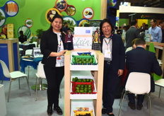 Ana Lucía Martínez Meléndez and Judith Quevedo Ramos of Ixin Quesal. The company works with Mexican and Persian limes, as well as dried limes.