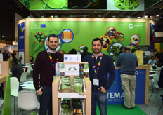 Estuardo Velasquez and José Andrés Sanabria of Cooperativa Agricola Integral Magdalena who work with micro-vegetables. Their main market is currently the US, but they would like to expand into Europe more.