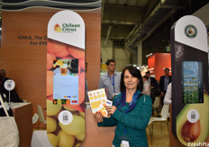 Monserrat Valenzuela, Executive Manager of the Chilean Citrus Committee.