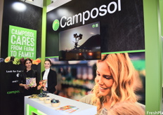 Elmira Behravan and Hannah Ehrlich representing the Camposol booth.