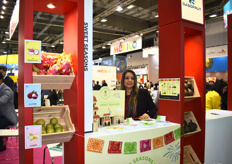 Bertha Bañuelos of Sweet Seasons, who work with lychees, guava, dragon fruit, and habanero peppers. The company has been seeing an increasing demand for these products in Europe.