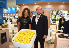 Maria Victoria Seleme and Miguel Seleme, directors of S.A. Veracruz, whose lemons aren't treated with any post-harvest chemicals.