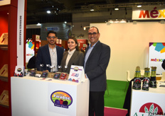 Carlos Madariaga, Natalia Villanueva, and Roberto Samano of Berries Paradise, a Mexican berry producer.