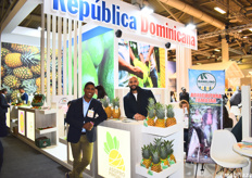 Joelin Santos and Príamo Molina of Asopro Pimopla. The association will be holding an International Pineapple Symposium in the Dominican Republic from April 22nd to April 26th.