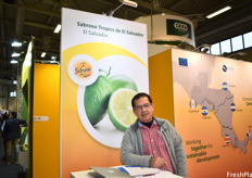 Jose Lino Menjivar of Sabroso Tropics, representing the first Salvadorian booth to exhibit at Fruit Logistica.