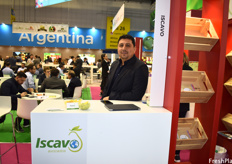 Israel Estrada Torres of Iscavo Avocados, exhibiting as part of the Mexico pavilion.