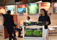 Lissy Robles, Commercial Manager of Limones Piuranos, as part of the Peruvian pavilion.