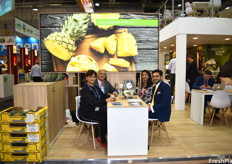 Radhika Thakrar, Jyoti Thakrar, Rodmey Thakrar, and Jai Thakrar of Jalaram Fruit, who grow and export pineapples from Costa Rica.