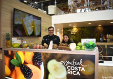 Luis Guillermo Castro and Maria José Davila, who prepared Costa Rica-themed snacks for visitors stopping by the Costa Rica Pavilion.